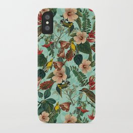 FLORAL AND BIRDS XIII iPhone Case