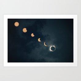 Great American Eclipse Art Print