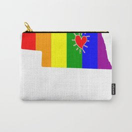Nebraska-Map-Rainbow-Pride-Gifts Carry-All Pouch