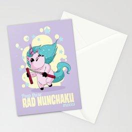 Rad Nunchaku Stationery Cards