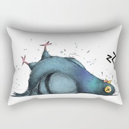 Permanently Exhausted Pigeon Rectangular Pillow