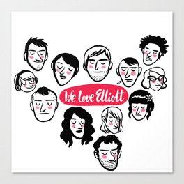 We Love Elliott Canvas Print