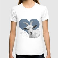 totes T-shirts featuring Totes Ma Goats - Green Wallpaper by BACK to THE ROOTS