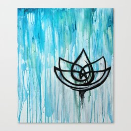 Lotus in the Rain I Canvas Print