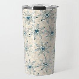 sema cream blue Travel Mug
