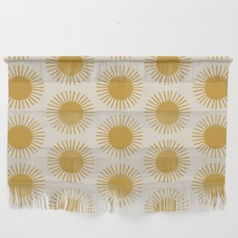 Golden Sun Pattern Wall Hanging