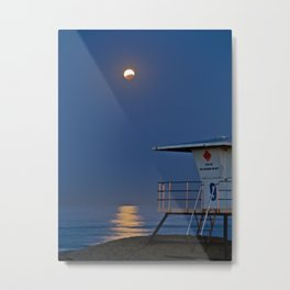 Blood Moon Eclipse Huntington Beach Metal Print