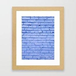 Purple Brick Wall Framed Art Print