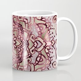 Burgundy plum mandala Coffee Mug