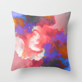Colorful clouds in the sky II Throw Pillow