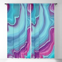 Purple and Teal Blue Agate Blackout Curtain