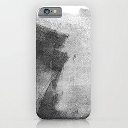 Black and Grey Concrete Texture Urban Minimalist iPhone Case