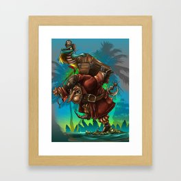 Watch your step! Framed Art Print