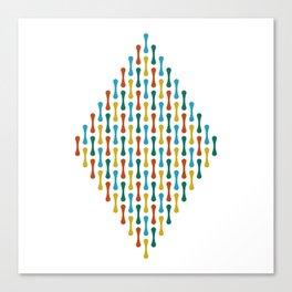 Chromosome | White Canvas Print