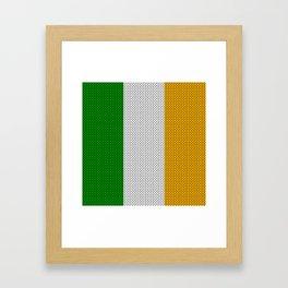 Flag of Ireland - knitted Framed Art Print