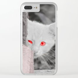 Kitty in the City Clear iPhone Case