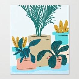 Little Plants #illustration #nature Canvas Print