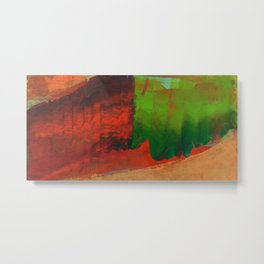 Red Green and Gold Metal Print