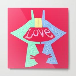 love is pink Metal Print