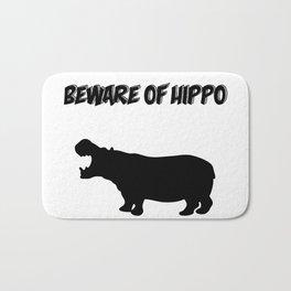 Beware of Hippo Bath Mat