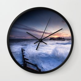 High Tide at Cromer Wall Clock