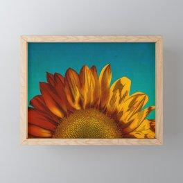 A Sunflower Framed Mini Art Print