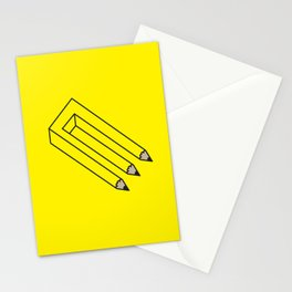Illusion of Work Stationery Cards