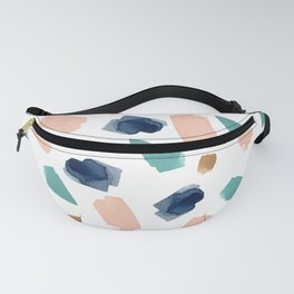 turquoise, navy, pink & gold Fanny Pack