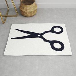 Simple Black Scissors Rug