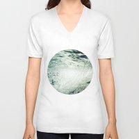 underwater V-neck T-shirts featuring Underwater by Kameron Elisabeth