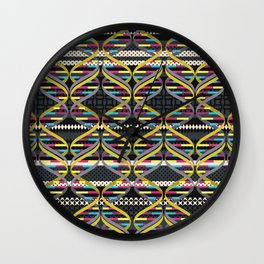 Pattern DNA Wall Clock