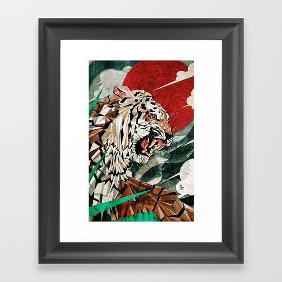 """""""Panthera Tigris"""" Framed Art Print"""