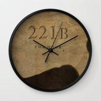 221b Wall Clocks featuring No. 6. 221B by F. C. Brooks