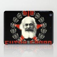 marx iPad Cases featuring Big Bushy Beard by PsychoBudgie