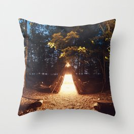 Light of the Teepee Throw Pillow