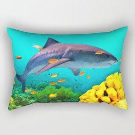 Shark in the water Rectangular Pillow