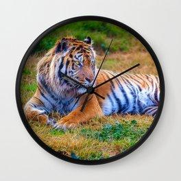Extraordinary Animals - Tiger 1 Wall Clock