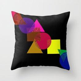 Geometric love Throw Pillow