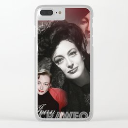 Joan Crawford Collage Portrait Clear iPhone Case