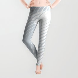 gradient stripes triangles in ice gray and white Leggings