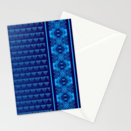 Buffalo Running (Blue) Stationery Cards