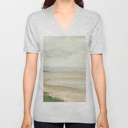 Jean-Baptiste-Camille Corot - Beach near Etretat Unisex V-Neck