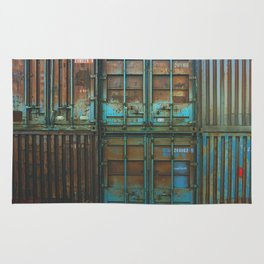Container rouille 5 Rug