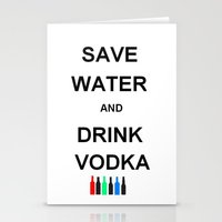 vodka Stationery Cards featuring Drink Vodka by Lyre Aloise