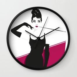 Audrey minimal art Wall Clock