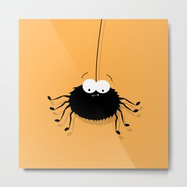 Big Black Spider Metal Print