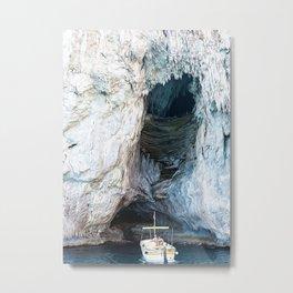 Cave in Capri Metal Print