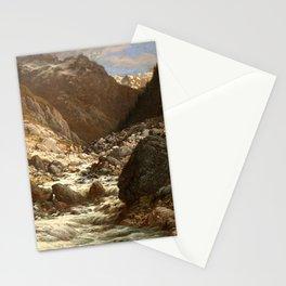 Gustave Dore - Torrent de montagne Stationery Cards