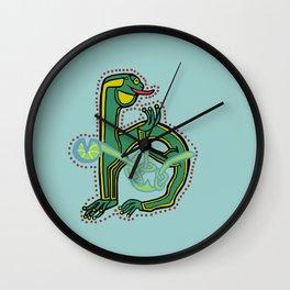 Celtic Medieval Frog Letter H 2020 Wall Clock