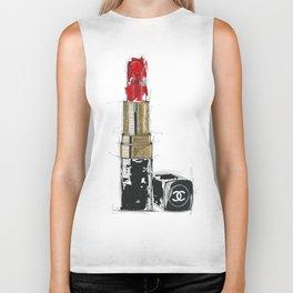 Lipstick Rouge Biker Tank